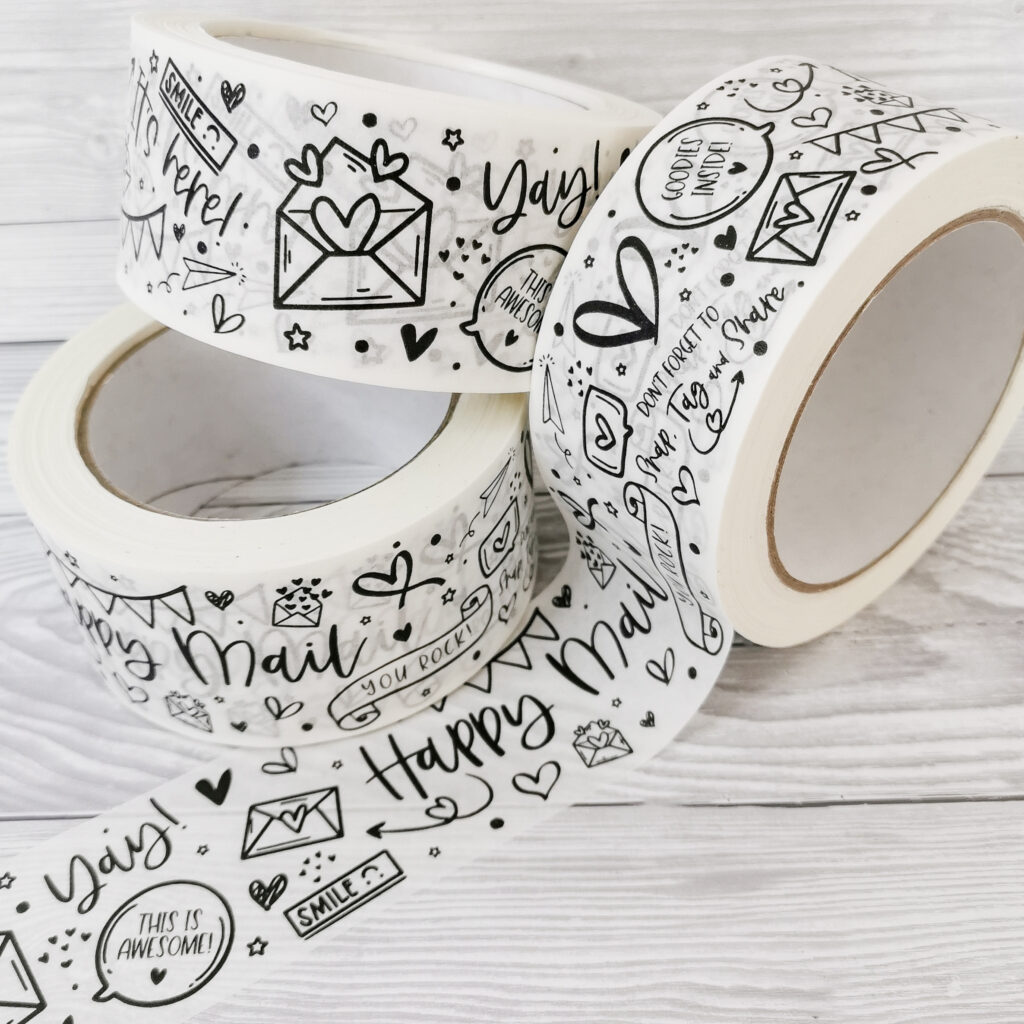 Happy Mail Paper Packaging Tape - Eco Friendly
